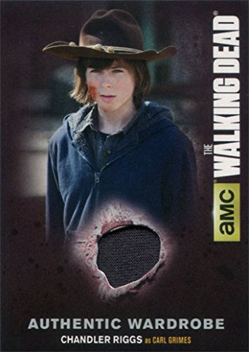 Carl Costumes (Walking Dead Season 4 Part 1 M01 Costume Wardrobe Card Chandler Riggs as Carl)