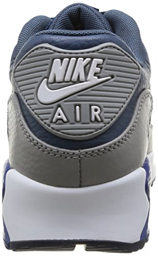 New Max Men's Nike Air Blue Leather Medium Grey Gym Slate 90 White Trainers xIYI1f5rqw