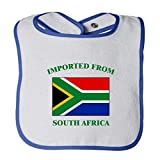 Cute Rascals Imported From South Africa South African Contrast Trim Terry Bib White/Royal Blue