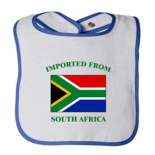 Cute Rascals Imported From South Africa South African Contrast Trim Terry Bib White/Royal Blue by Cute Rascals