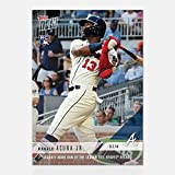 2018 Topps Now Baseball #675 Ronald Acuna Jr. RC Rookie Atlanta Braves 7th Leadoff HR ties Braves Record Limited Print Run Trading Card SOLD OUT at Topps