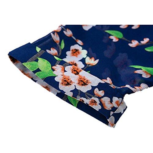 waylongplus Damen Bikini Cover Up Floral Print Sheer Chiffon Lose Beachwear