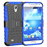 case for galaxy s4, Galaxy S4 Case,Impact Resistant Heavy Duty Rugged Dual Layer Hybrid Holster Protective Case For Samsung Galaxy S4 IV i9500 with Built-in Kickstand (Blue)