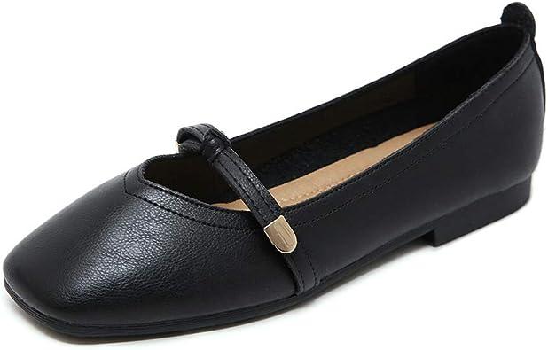 Wollanlily Womens Square Toe Slip On Ballet Flats Ballerina Walking Flats Dress Shoes