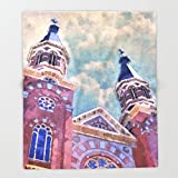 Society6 St. Mary's Catholic Church Throw Blankets 88'' x 104'' Blanket