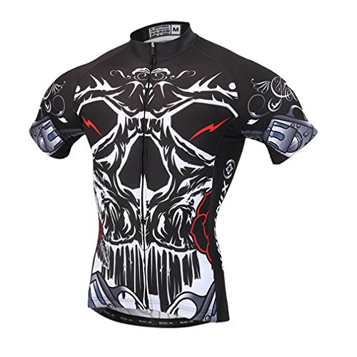BIYINGEE Men's Bicycle Jersey Short Sleeve with Reflective Stripe Devil King Size XL(CN)