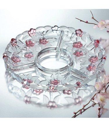 Studio Silversmiths Venezia Crystal Sectional Platter Centerpiece ()