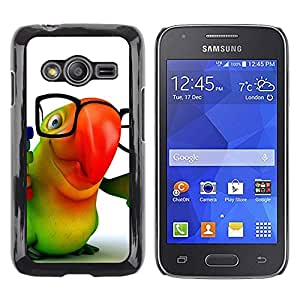 Stuss Case / Funda Carcasa protectora - Parrot Glasses Colorful Animation Hipster 3D - Samsung Galaxy Ace 4 G313 SM-G313F