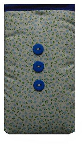 Mini Blau Blumen Print Apple iPhone SE Socke / Case / Cover