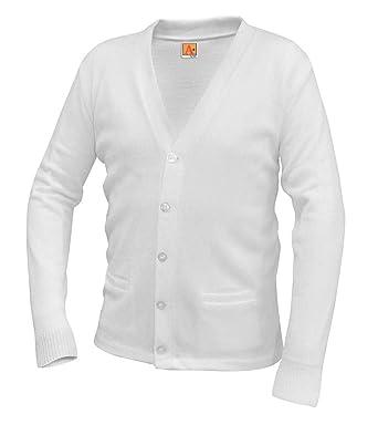 0220b05ffd Amazon.com  A+ Youth   Adult School Uniform V-neck Cardigan Sweater   Clothing