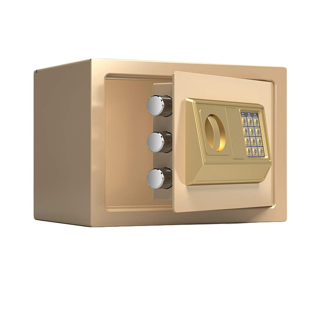 Boxes & Organisers Key Cabinet Anti-Theft with Key Lock Electronic Password Steel Structure Solid Lock Bolt Home Office 300200200mm Small Insurance Cabinet (Color : C)