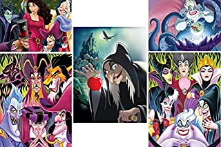 product image for Ceaco Disney Villains 5 in 1 Multipack Jigsaw Puzzles, (2) 300 Pieces, (2) 500 Pieces, (1) 750 Pieces
