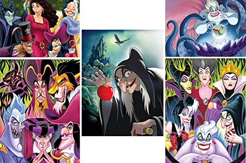 Ceaco Disney Villains 5-in-1 Multipack Jigsaw Puzzle Set -
