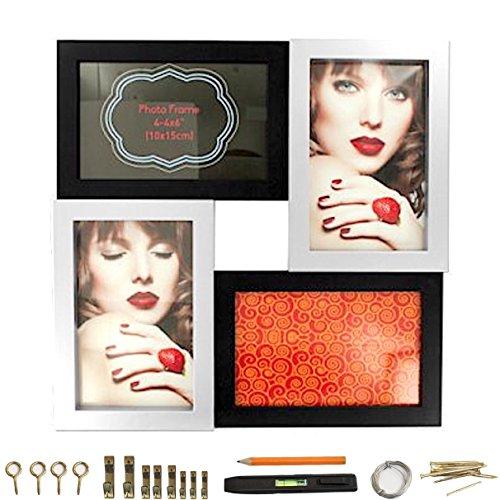 Modern Design Picture Frame Black & Silver Collage Photo Frame 11