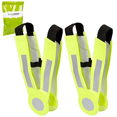 RoryTory 2pc Kids Outdoor Sports Neon Yellow and Silver Reflective Safety Belts by RoryTory