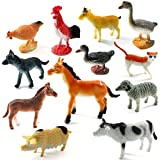 Funny Teddy Realistic Animal Toy Set with Jungle Wallpaper