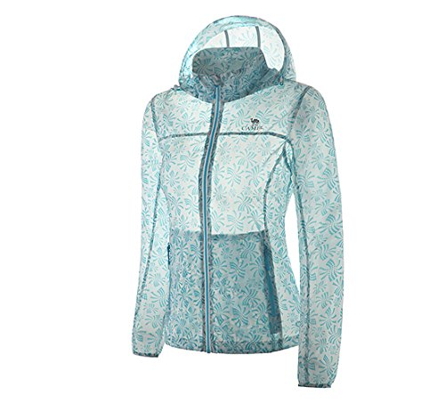 Camel Women's Lightweight Windbreaker Waterproof Skin Coat Color Blue Size S by Camel