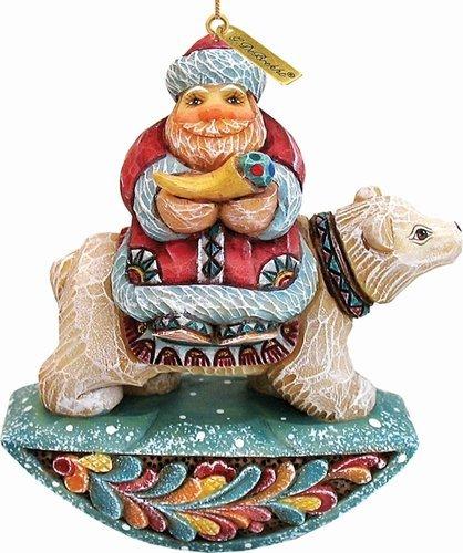 G. Debrekht Santa On Polar Bear Figurine Ornament for sale  Delivered anywhere in USA