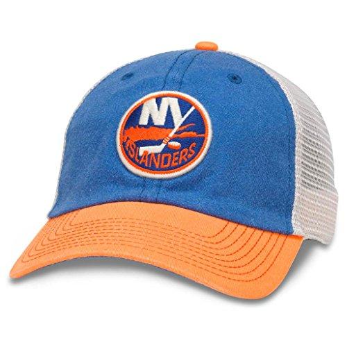 - American Needle Hanover NHL Team Mesh Hat, New York Islanders, Ivory/Royal/Orange (43352A-NYI)