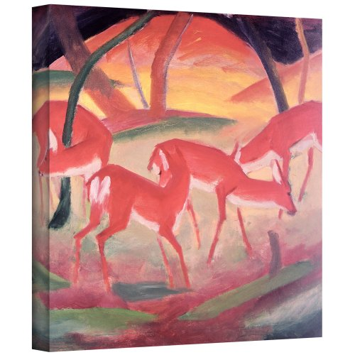 ArtWall Franz Marc 'Deer' Gallery Wrapped Canvas Artwork, 18 by 24-Inch Franz Marc Deer