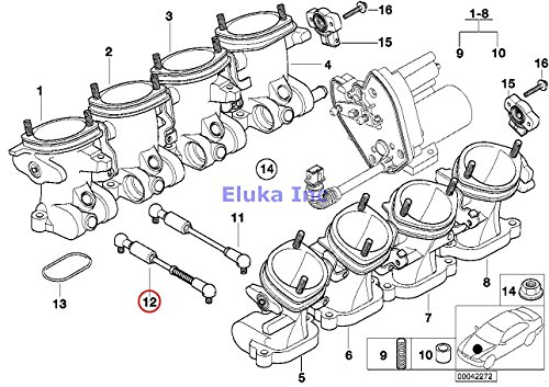 BMW Genuine Throttle Housing Assembly Pull Rod Adjustable M5 Z8