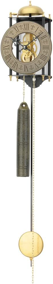 301 AMS mecánico de esqueleto de antigüedades de el hierro forjado con reloj carillón romano números diseño antiguo retro