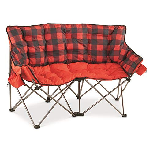 Guide Gear XL Club Love Seat, 500-lb. Capacity, Red Plaid, XL