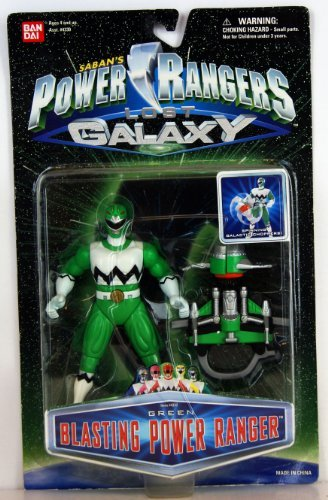 Power Galaxy Rangers (Power Rangers Lost Galaxy Green Blasting Ranger Action Figure MOSC MOC NEW Bandai 1998)