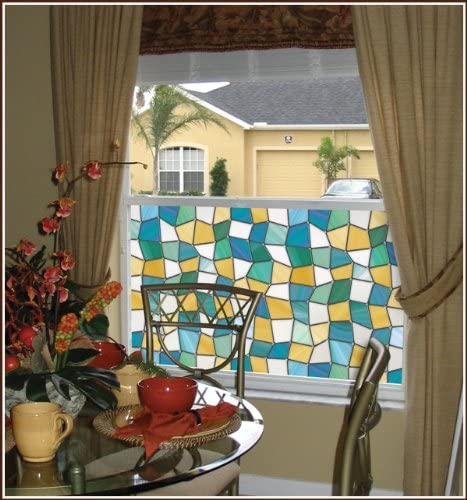 Mirage Privacy Stained Glass Decorative Window Film 16 x 74