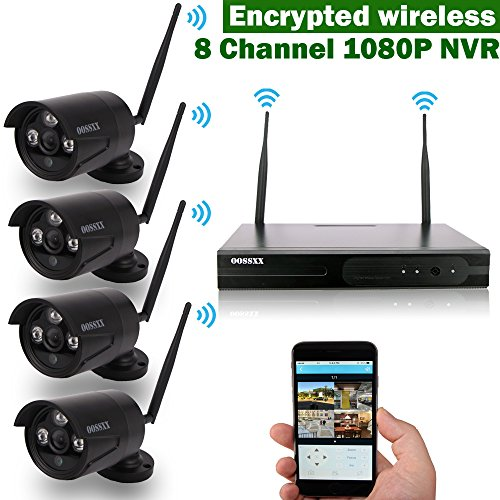 OOSSXX Black Camera Kit Wireless Camera System