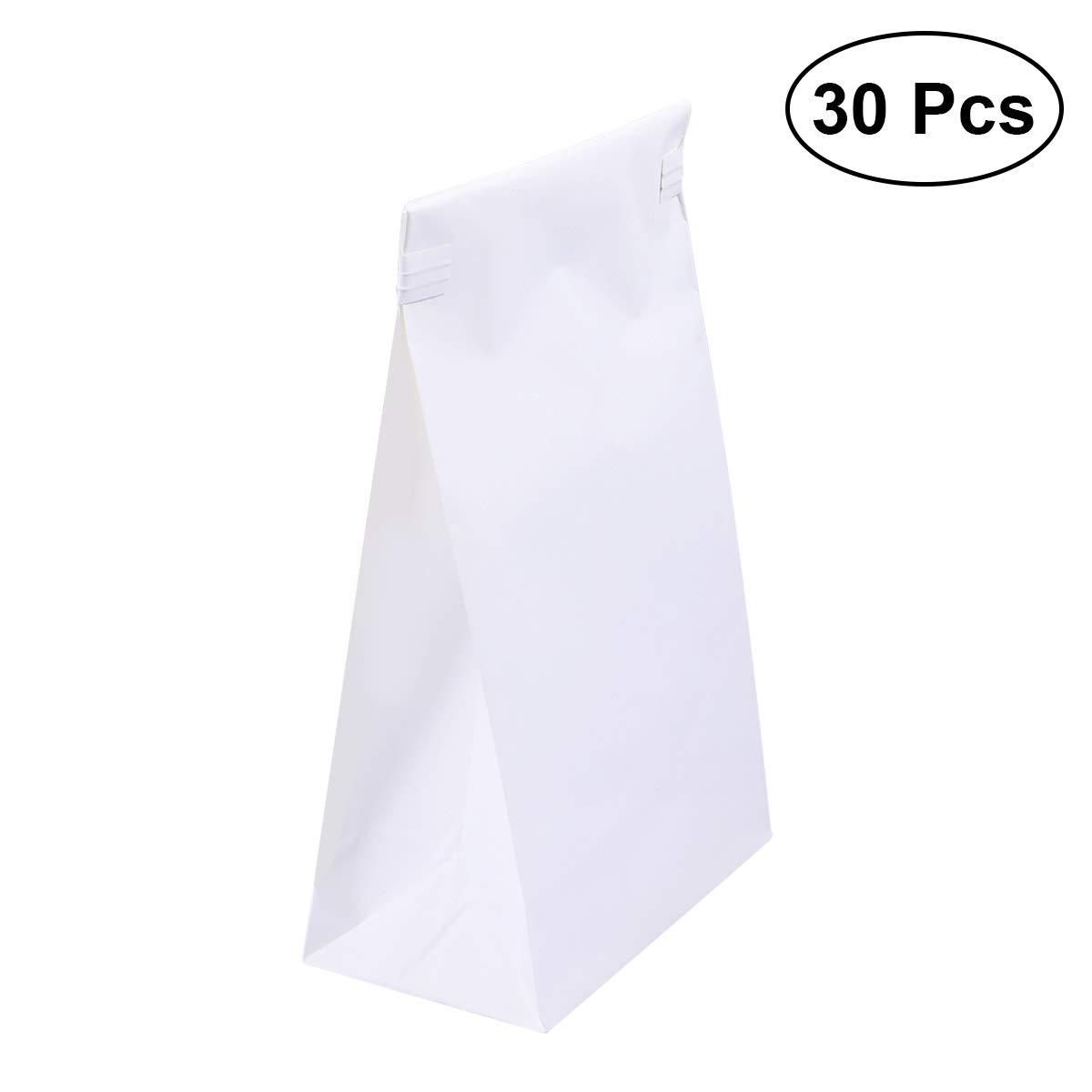 Hemobllo 30pcs vomit bags Disposable emesis bags barf bag (White)