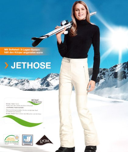 Damen Jethose Schneehose Skihose Hose Gr.: 42 NEU beige
