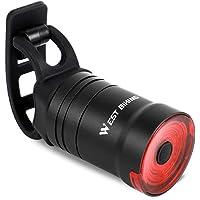 Ajcoflt Lanterna para bicicleta Luz traseira da bicicleta com sensor de freio automático IPX6 à prova d 'água LED…