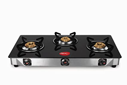 f04508357 Buy Preethi Blu Flame Blaze Glass Top 3-Burner Gas Stove