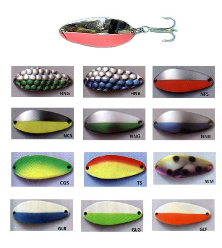 Acme Little Cleo Fishing Lure, Rainbow/Blue/Pink, 3/4-Ounce (Trout Rainbow Spoon)