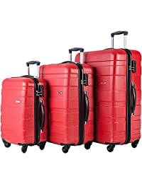 Merax Afuture 3 Piece Hardshell Spinner Luggage Set