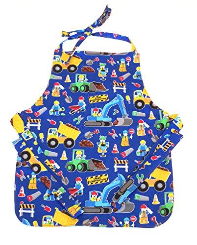 Apron Boys - Handmade Toddler/Boy Apron, by DesignsByDowning (Royal Construction Trucks)