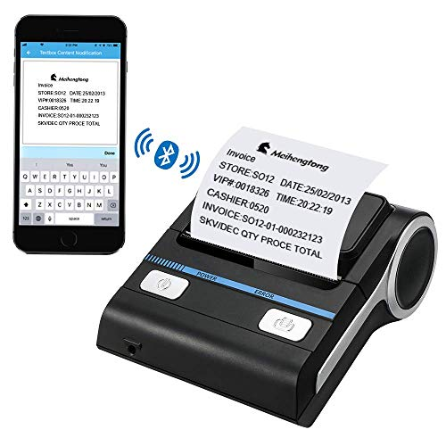 h Receipt Printers Wireless Thermal Printer 80mm Compatible with Android/iOS/Windows System ESC/POS Print Commands Set for Office and Small Business (Receipt Printer) ()