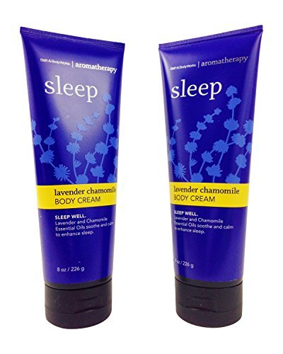 Bath & Body Works Aromatherapy Sleep Lavender Chamomile Body Cream 8.0 oz, 226g (2 Pack)