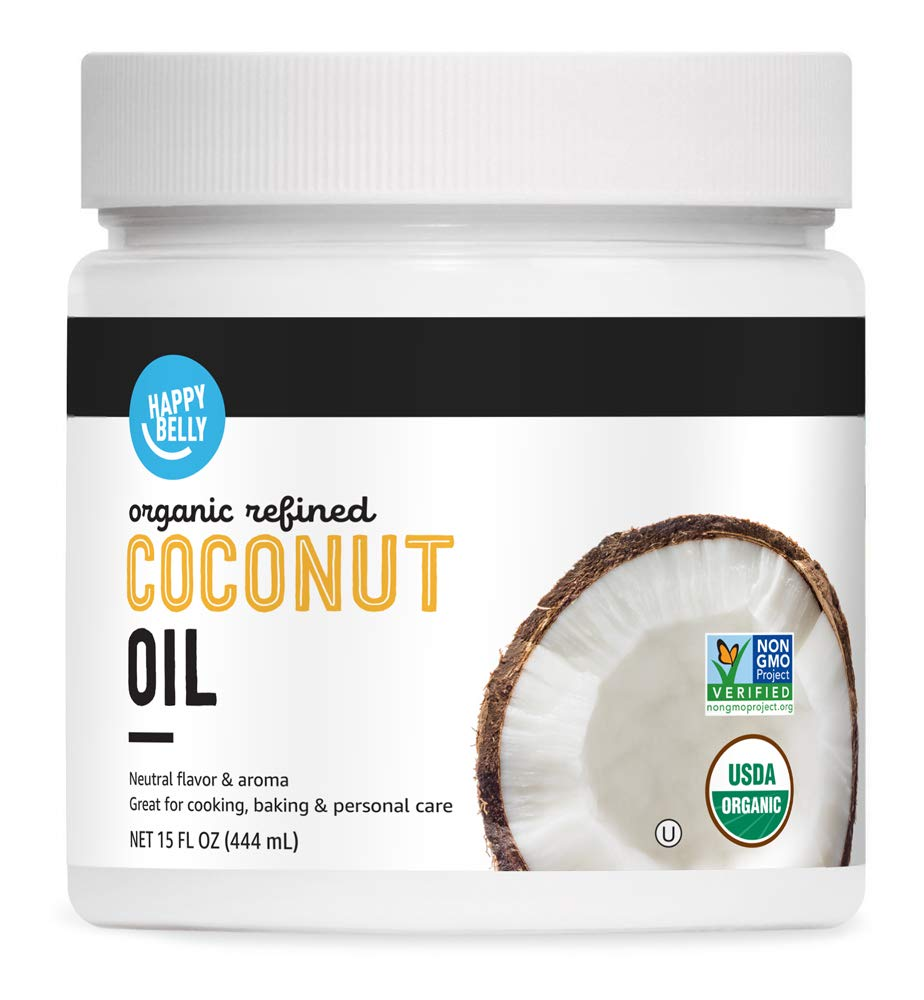 Happy Belly Organic Refined Coconut Oil, 15 ounce