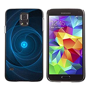 LECELL--Funda protectora / Cubierta / Piel For Samsung Galaxy S5 SM-G900 -- Sun Pulsar Web Black Pattern --