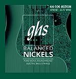 #7: GHS Strings 4700 Short Scale Balanced Nickels 4-Bass Electric Guitar Strings Medium Gauge (32.75
