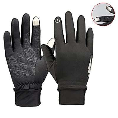 YooNow Winter Gloves Touch Screen Gloves Windproof Anti-Slip Thermal Warm Smartphone Gloves Design for Texting Driving Running Cycling Outdoors Fits Men and Women