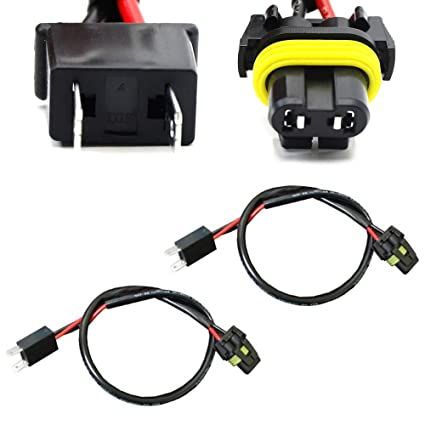 amazon com ijdmtoy h7 wire harness for hid ballast to stock socket  at Hid Ballast To Stock Wiring Harness H7