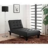 convertible chaise lounge chair this adjustable lounger is perfect for your home or living room converts into a sleeper when folded down faux leather - Living Room Chaise Lounge Chairs