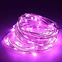 MBO 5M 10M Led Copper Wire String USB Supply Fairy Light Strip for Home House Xmas Party Decor … (5M, Pink)