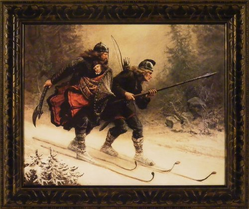 Birkebeiner - Rescue of Prince Haakon by Knud Larsen for sale  Delivered anywhere in USA