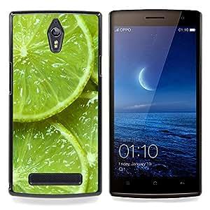 For OPPO Find 7 X9077 X9007 Case , Verde Agrios Naturaleza Vibrante - Diseño Patrón Teléfono Caso Cubierta Case Bumper Duro Protección Case Cover Funda