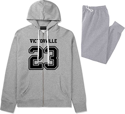 Sport Style Victorville 23 Team Jersey City California Sweat Suit Sweatpants XX-Large Grey (City Of Victorville)