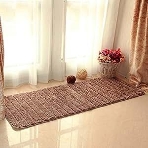 Desy largo felpudo alfombra de cama junto a la cama pie balcón, bahía ventana cojín alfombrilla de cocina
